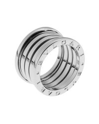 BVLGARI | Metallic Women's B.zero1 18k White Gold 5-band Ring Size 7.5 | Lyst