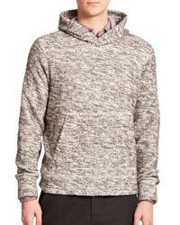 Vince Gray Marled Hoodie for men