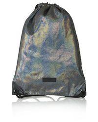 TOPSHOP Metallic Shimmer Drawstring Backpack