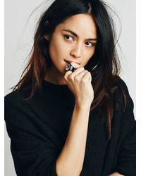 Free People Black Womens Red Sands Ring