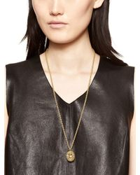 kate spade new york - Metallic Into The Woods Hedgehog Long Pendant - Lyst