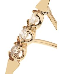 Loren Stewart - Metallic Diamond & Yellow-Gold Orbital Ring - Lyst