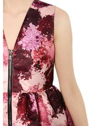 MSGM Pink Make-Up Print Duchesse Dress