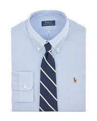 Polo Ralph Lauren | Blue Striped Cotton Oxford Shirt for Men | Lyst
