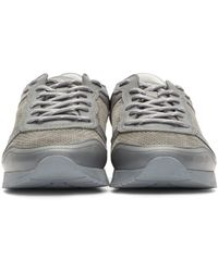 ETQ Amsterdam Gray Ssense Exclusive Grey Leather And Suede Sneakers for men