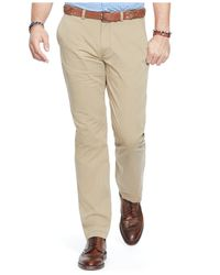 Polo Ralph Lauren | Natural Big And Tall Classic-fit Flat-front Chino Pants for Men | Lyst