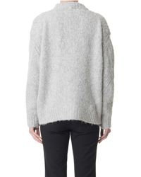 Tibi | Gray Bubble Cardigan | Lyst