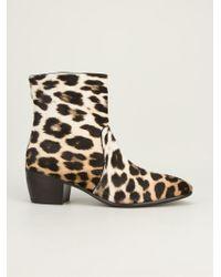 Giuseppe Zanotti Natural Leopard Print Ankle Boots for men