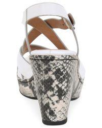 Söfft - White Vivien Platform Wedge Sandals - Lyst