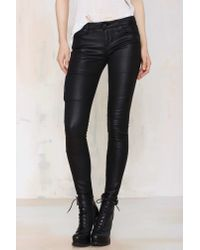 Nasty Gal | Black Cult Of Individuality Zen Moto Pant | Lyst