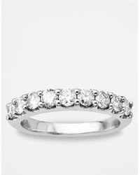 Lord & Taylor - Metallic 14 Kt. White Gold Diamond Band - Lyst