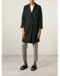 Forte Forte - Black Double Breasted Coat - Lyst