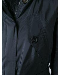 Burberry Brit - Black Belted Parka Jacket  - Lyst