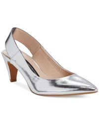 French Connection - Metallic Kourtney Pumps - Lyst