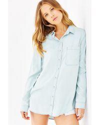 BDG Blue Olly Chambray Shirt