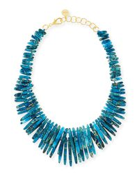 Nest - Blue Turquoise Jasper Spike Necklace - Lyst