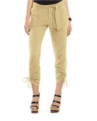 Lauren by Ralph Lauren | Natural Poplin Skinny Pants | Lyst