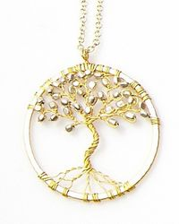 Nakamol | Metallic Tree Of Life Pendant(small) -gold/silver | Lyst