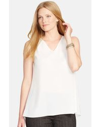 Lauren by Ralph Lauren | White 'Bayse' Sleeveless Top | Lyst