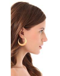 Rebecca Minkoff Metallic Flat Hoop Earrings
