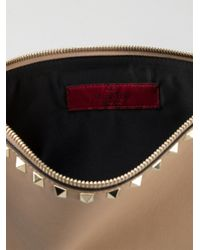 Valentino Natural Large Rockstud Pouch