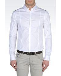Armani Jeans | White Stretch Cotton Poplin Shirt for Men | Lyst