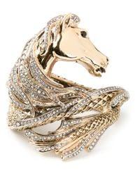 Roberto Cavalli - Metallic Horse Wrap Around Cuff - Lyst