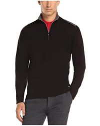 BOSS Green - Black Cotton-blend Sweater 'zeek' for Men - Lyst