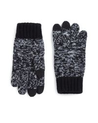 Saks Fifth Avenue | Black Marled Wool-blend Texting Gloves for Men | Lyst