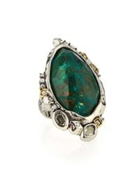 Alexis Bittar | Metallic Chrysocolla Cocktail Ring | Lyst