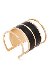 Balmain - Black Perspex & Enameled Cuff Bracelet - Lyst