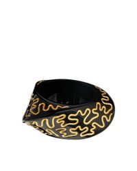 Zandra Rhodes | Metallic Styled Bangle | Lyst