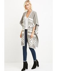 Forever 21 | Gray Geo-pattern Cardigan | Lyst