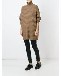 AALTO | Brown Oversized Roll Neck Sweater | Lyst