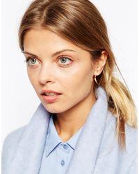 ASOS - Pink Mismatch Pyramid Spike Earrings - Lyst