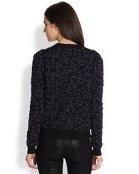 Rebecca Taylor | Black 3d Leopard-pattern Sweater | Lyst