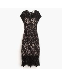 J.Crew - Black Collection Scalloped Lace Dress - Lyst
