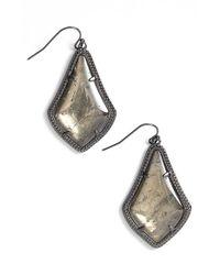 Kendra Scott - Metallic 'alex' Teardrop Earrings - Gunmetal/ Mirror Rock Crystal - Lyst