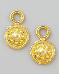 Elizabeth Locke | Metallic 19k Gold Daisy Disc Earring Pendants | Lyst