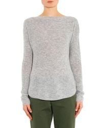 Vince Gray Boat-Neck Cashmere Sweater