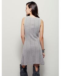 Free People - Gray Joa Womens Soft Touch Sweater Dress - Lyst