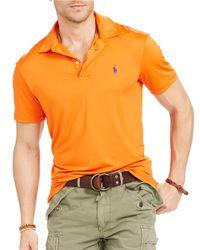 Polo Ralph Lauren | Orange Solid Performance Polo for Men | Lyst