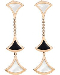BVLGARI - Metallic Diva 18ct Pink-gold Earrings - Lyst