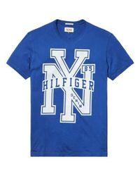 Tommy Hilfiger | Blue Federer Graphic Crew Neck Slim Fit T-shirt for Men | Lyst