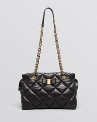 Ferragamo | Black Shoulder Bag - Medium Ginette Quilted | Lyst