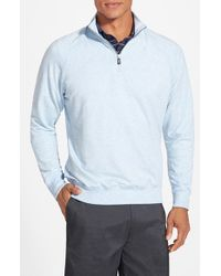 Fairway & Greene - Blue 'old School' Stretch Raglan Quarter Zip Pullover for Men - Lyst