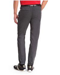 BOSS Green | Blue Slim-fit Trousers: 'luken-w' In Cotton Blend for Men | Lyst