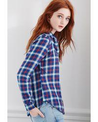 Forever 21 Blue Tartan Plaid Shirt