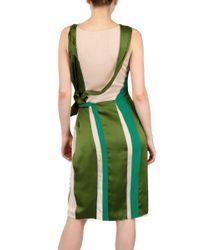 Bottega Veneta Green Silk Chiffon And Satin