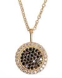 Jamie Wolf Metallic Two-tone-diamond Pendant 18k Gold Necklace